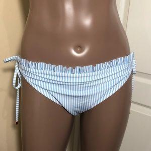Ted Baker London Tie Striped Ruffle Bikini Bottom